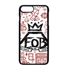 Save Rock And Roll Fob Fall Out Boy Apple Iphone 8 Plus Seamless Case (black)