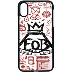 Save Rock And Roll Fob Fall Out Boy Apple Iphone X Seamless Case (black) by Samandel