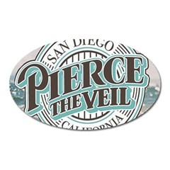 Pierce The Veil San Diego California Oval Magnet by Samandel