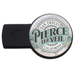 Pierce The Veil San Diego California Usb Flash Drive Round (2 Gb) by Samandel