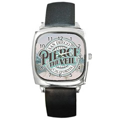 Pierce The Veil San Diego California Square Metal Watch