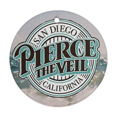 Pierce The Veil San Diego California Round Ornament (two Sides)