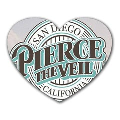 Pierce The Veil San Diego California Heart Mousepads