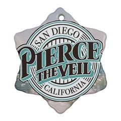 Pierce The Veil San Diego California Ornament (snowflake)