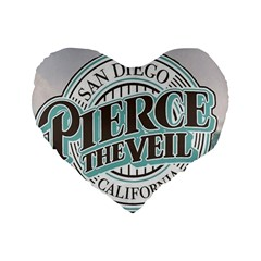 Pierce The Veil San Diego California Standard 16  Premium Heart Shape Cushions