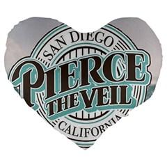 Pierce The Veil San Diego California Large 19  Premium Heart Shape Cushions