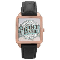 Pierce The Veil San Diego California Rose Gold Leather Watch  by Samandel