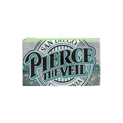 Pierce The Veil San Diego California Cosmetic Bag (xs) by Samandel