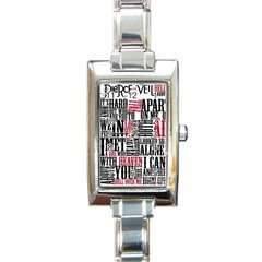 Pierce The Veil Hell Above Lyrics Poster Rectangle Italian Charm Watch
