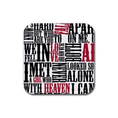 Pierce The Veil Hell Above Lyrics Poster Rubber Coaster (square)