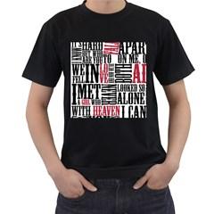 Pierce The Veil Hell Above Lyrics Poster Men s T Shirt (black) (two Sided)