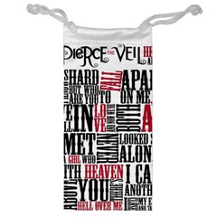 Pierce The Veil Hell Above Lyrics Poster Jewelry Bag by Samandel