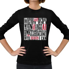 Pierce The Veil Hell Above Lyrics Poster Women s Long Sleeve Dark T Shirts by Samandel