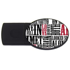 Pierce The Veil Hell Above Lyrics Poster Usb Flash Drive Oval (4 Gb)