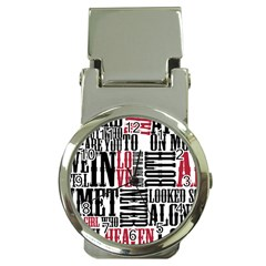 Pierce The Veil Hell Above Lyrics Poster Money Clip Watches