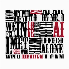 Pierce The Veil Hell Above Lyrics Poster Small Glasses Cloth (2 Side)