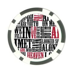 Pierce The Veil Hell Above Lyrics Poster Poker Chip Card Guard by Samandel