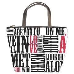 Pierce The Veil Hell Above Lyrics Poster Bucket Bags