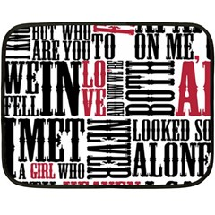 Pierce The Veil Hell Above Lyrics Poster Fleece Blanket (mini)