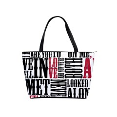 Pierce The Veil Hell Above Lyrics Poster Shoulder Handbags
