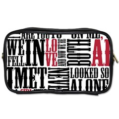 Pierce The Veil Hell Above Lyrics Poster Toiletries Bags 2 Side