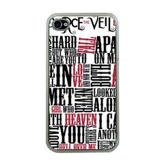 Pierce The Veil Hell Above Lyrics Poster Apple Iphone 4 Case (clear)