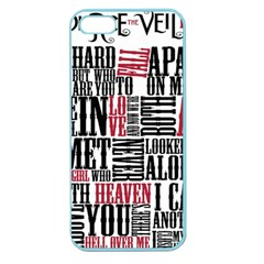 Pierce The Veil Hell Above Lyrics Poster Apple Seamless Iphone 5 Case (color) by Samandel