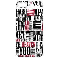 Pierce The Veil Hell Above Lyrics Poster Apple Iphone 5 Classic Hardshell Case by Samandel