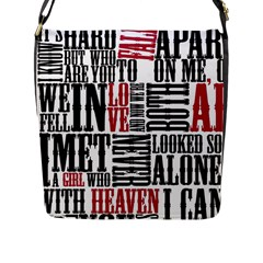 Pierce The Veil Hell Above Lyrics Poster Flap Messenger Bag (l)