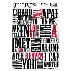 Pierce The Veil Hell Above Lyrics Poster Flap Covers (l)  by Samandel