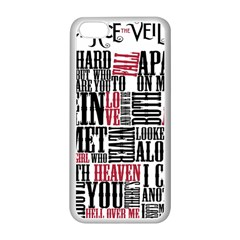 Pierce The Veil Hell Above Lyrics Poster Apple Iphone 5c Seamless Case (white) by Samandel