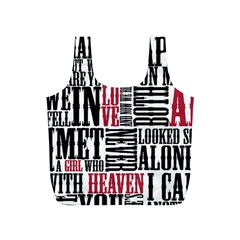 Pierce The Veil Hell Above Lyrics Poster Full Print Recycle Bags (s)
