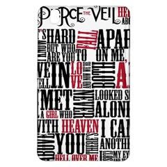 Pierce The Veil Hell Above Lyrics Poster Samsung Galaxy Tab Pro 8 4 Hardshell Case by Samandel