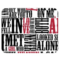Pierce The Veil Hell Above Lyrics Poster Double Sided Flano Blanket (medium)