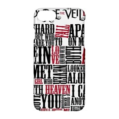 Pierce The Veil Hell Above Lyrics Poster Apple Iphone 7 Hardshell Case