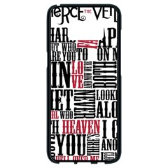 Pierce The Veil Hell Above Lyrics Poster Samsung Galaxy S8 Black Seamless Case by Samandel
