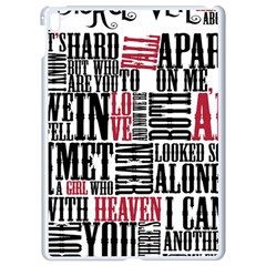 Pierce The Veil Hell Above Lyrics Poster Apple Ipad Pro 9 7   White Seamless Case by Samandel