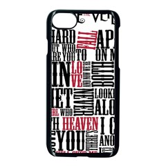 Pierce The Veil Hell Above Lyrics Poster Apple Iphone 8 Seamless Case (black) by Samandel