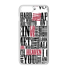Pierce The Veil Hell Above Lyrics Poster Apple Iphone 8 Plus Seamless Case (white) by Samandel