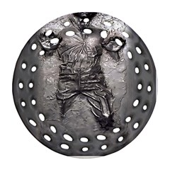 Han Solo Han Round Filigree Ornament (two Sides)