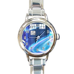 Tardis Space Round Italian Charm Watch