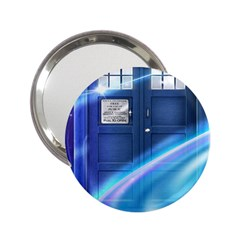 Tardis Space 2 25  Handbag Mirrors