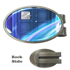 Tardis Space Money Clips (oval)