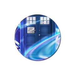 Tardis Space Rubber Round Coaster (4 Pack)