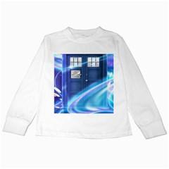 Tardis Space Kids Long Sleeve T Shirts