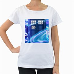 Tardis Space Women s Loose Fit T Shirt (white)