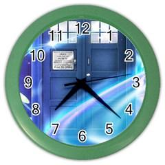 Tardis Space Color Wall Clocks