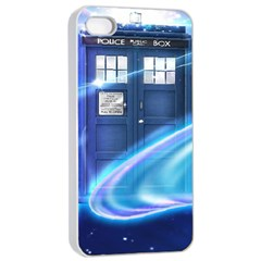 Tardis Space Apple Iphone 4/4s Seamless Case (white)
