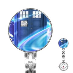 Tardis Space Stainless Steel Nurses Watch