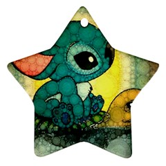 Stich And Turtle Ornament (star)